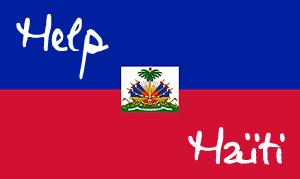 drapeau haïti help aide seisme tremblement de terre
