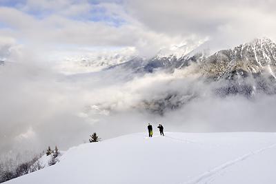 photo montagne alpes belledonne randonnée raquettes ski