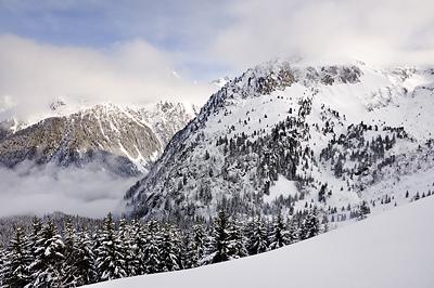 photo montagne alpes belledonne randonnée raquettes ski rocher blanc