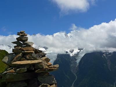 photo montagne alpes randonnée aiguillette des houches sommet mont blanc