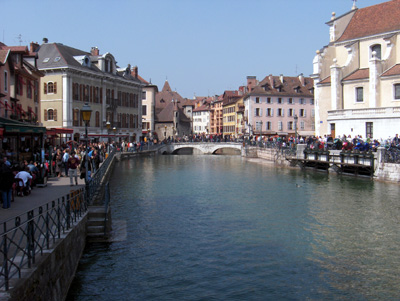 photo Annecy canaux vieille ville