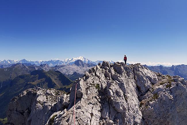 photo montagne alpes escalade grande voie aravis pic jallouvre arete bouquetins