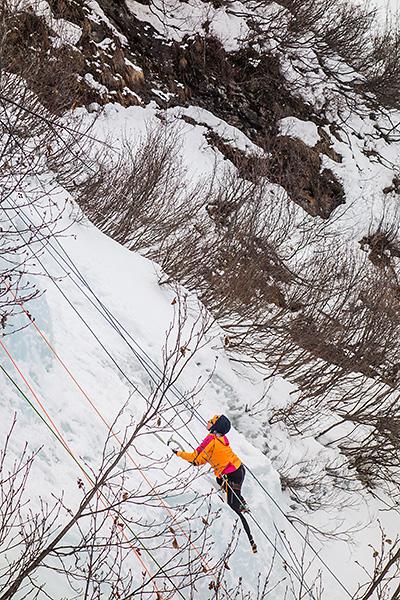 photo montagne alpes savoie haute maurienne vanoise alpes grées bonneval sur arc cascade glace saint landry
