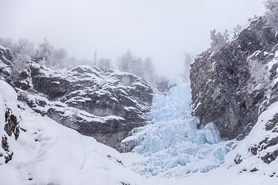 photo montagne alpes oisans ecrins la grave cascade glace colere du ciel