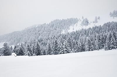 photo montagne alpes bauges randonnée raquettes col arclusaz