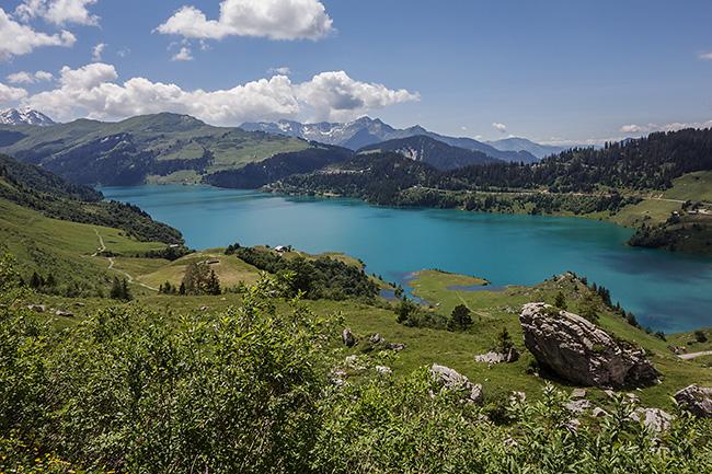 photo montagne alpes randonnée rando savoie beaufortain cormet roselend lac