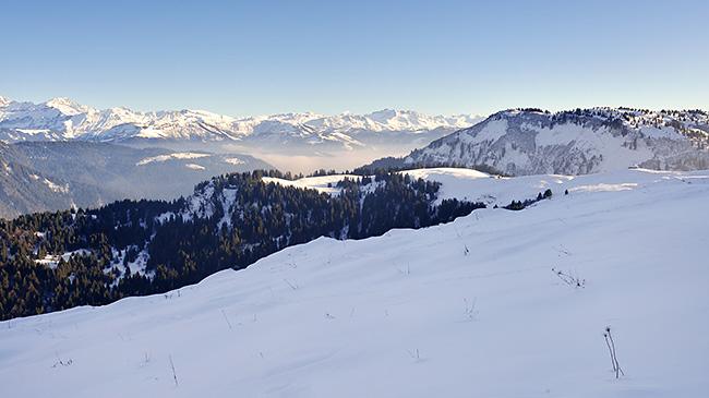 photo montagne alpes randonnée rando savoie aravis crête plachaux croix de fer