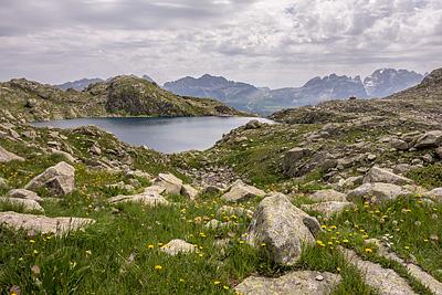 photo montagne alpes dolomites brenta lago serodoli