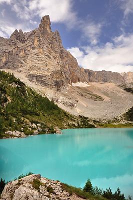 photo montagne alpes dolomites lago sorapis