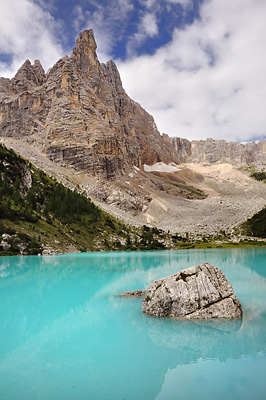 photo montagne alpes dolomites lago sorapis