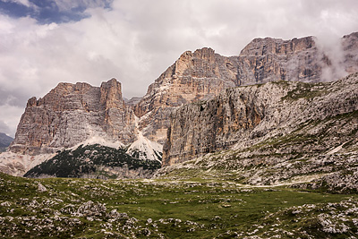 photo montagne alpes dolomites passo falzarego