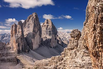 photo montagne alpes dolomites tre cime di lavaredo innerkofler