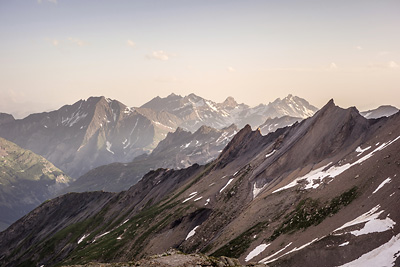 photo montagne alpes beaufortain mont blanc refuge robert blanc coucher soleil