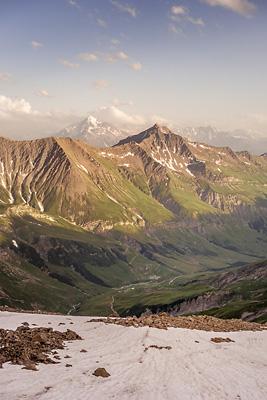 photo montagne alpes beaufortain mont blanc refuge robert blanc coucher soleil mont pourri