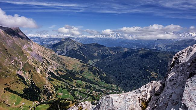 photo montagne alpes escalade grande voie aravis pointes de la blonnière arete à marion