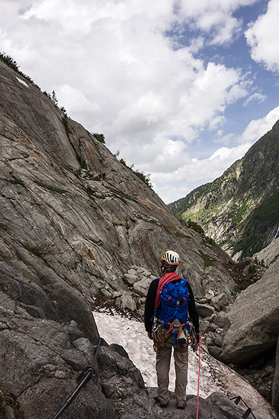 photo montagne alpes escalade grande voie haute savoie chamonix montenvers mer de glace