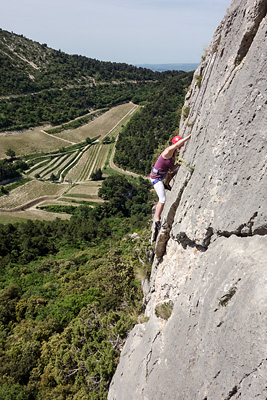 photo montagne escalade vaucluse dentelles montmirail