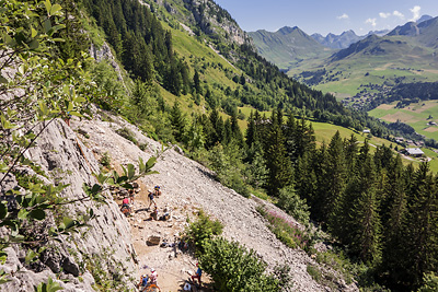 photo montagne escalade aravis la culaz grand bornand