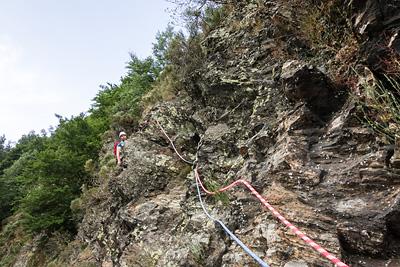photo montagne escalade pilat roche corbiere planfoy parcours montagne