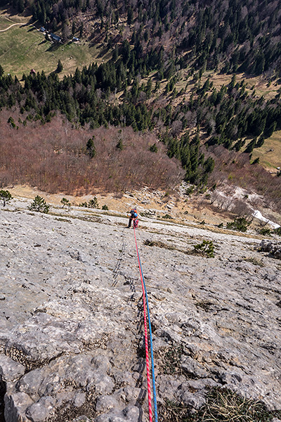 photo montagne alpes escalade grande voie bauges annecy roc boeufs dalle rousse lactate dragibus
