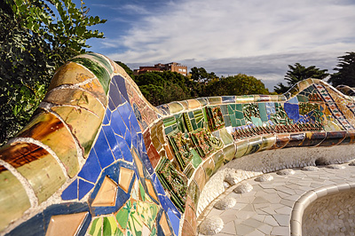 photo espagne barcelone tourisme parc guell gaudi
