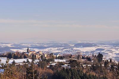 photo forez auvergne loire haute-loire neige hiver paysage village