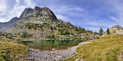 photo montagne alpes randonnée GR5 GR52 mercantour lac trecolpas