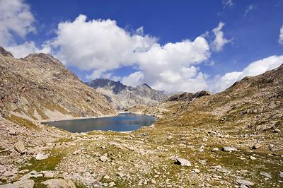 photo montagne alpes randonnée GR5 GR52 mercantour lac basto