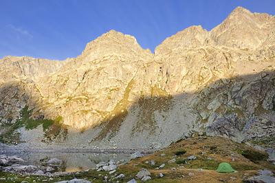 photo montagne alpes randonnée GR5 GR52 mercantour lac fous