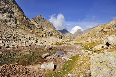 photo montagne alpes randonnée GR5 GR52 mercantour lac nire