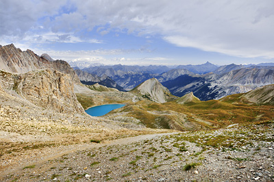 photo montagne alpes randonnée GR5 ceillac col girardin lac sainte anne