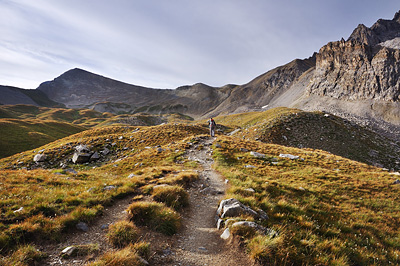 photo montagne alpes randonnée GR5 ceillac col girardin