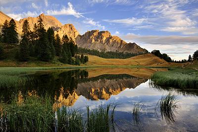 photo montagne alpes randonnée GR5 ceillac lac miroir