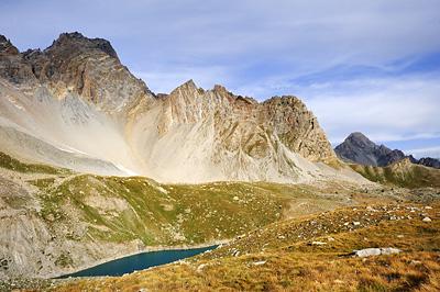 photo montagne alpes randonnée GR5 ceillac lac sainte anne