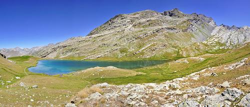 photo montagne alpes randonnée GR5 mercantour larche lauzanier lac