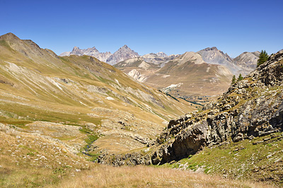 photo montagne alpes randonnée GR5 mercantour larche lauzanier vallon val fourane