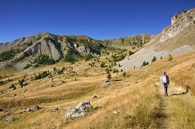 photo montagne alpes randonnée GR5 mercantour bousieyas col colombiere