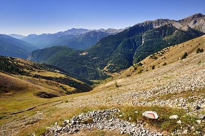 photo montagne alpes randonnée GR5 mercantour tinee col colombiere