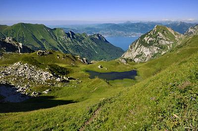 photo montagne alpes randonnée GR5 col bise