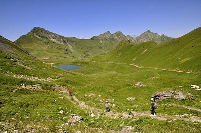 photo montagne alpes randonnée GR5 lac vert