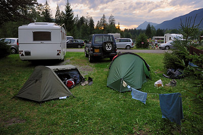 photo montagne alpes randonnée GR5 samoens camping