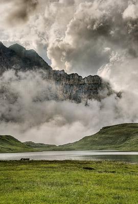 photo montagne alpes randonnée GR5 lac anterne