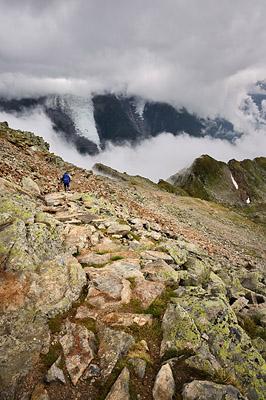 photo montagne alpes randonnée GR5 brevent descente