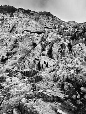 photo montagne alpes randonnée GR5 col brevent echelles
