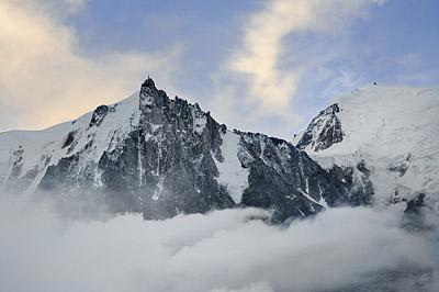 photo montagne alpes randonnée GR5 mont blanc aiguille midi