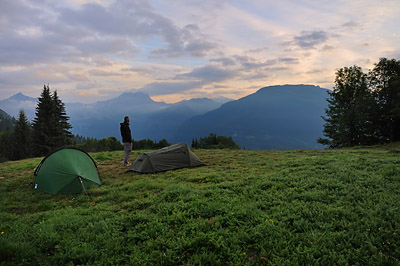 photo montagne alpes randonnée GR5 col voza