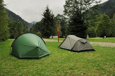 photo montagne alpes randonnée GR5 contamines montjoie camping