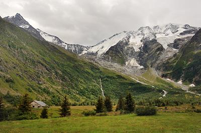 photo montagne alpes randonnée GR5 chalet glacier miage