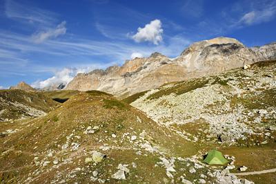 photo montagne alpes randonnée GR5 cerces lac peyron bivouac