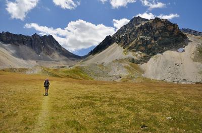 photo montagne alpes randonnée GR5 cerces col meandes